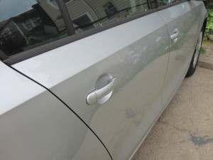 right rear car door