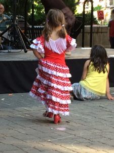 flamenco dancing young girl